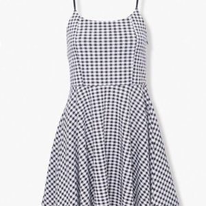 Forever21 Gingham Checkered Fit and Flare Dress